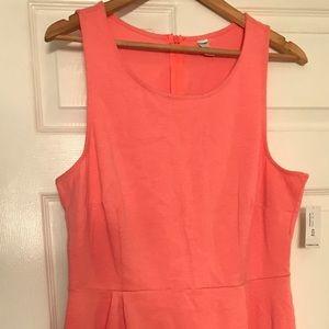 Cute Neon Coral-Pink 💕 Bubble Skirt Shift Dress